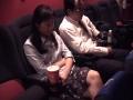 初めて映画館に貸出派遣された人妻
